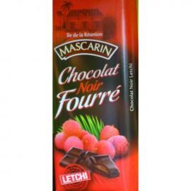 Chocolat noir fourré letchi Mascarin 100g