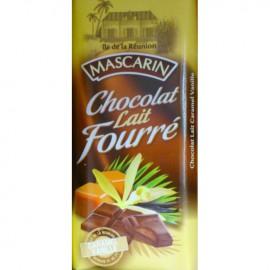 Chocolat lait fourré caramel vanille Mascarin 100g