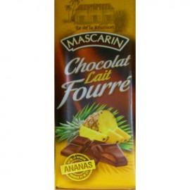 Chocolat lait fourré ananas Mascarin 100g
