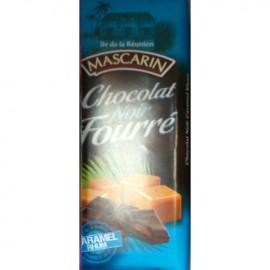 Chocolat noir fourré caramel rhum Mascarin 100g