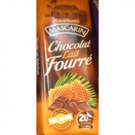Chocolat lait fourré mielorhum Mascarin 100g