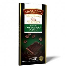Chocolat croustillant noir café bourbon pointu Mascarin 100g