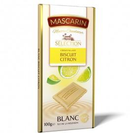 Chocolat croustillant blanc biscuit citron Mascarin 100g