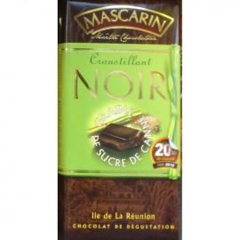 Chocolat croustillant noir grains de sucre de canne Mascarin 100g