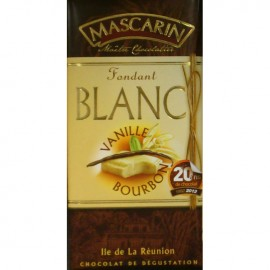 Chocolat fondant blanc vanille bourbon Mascarin 100g