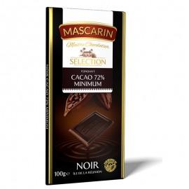 Chocolat fondant noir 72% cacao minimum Mascarin 100g