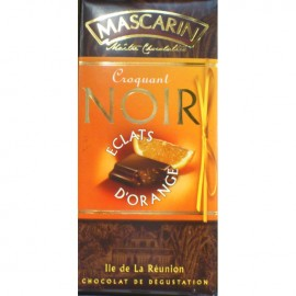 Chocolat croquant noir éclats d'orange Mascarin 100g