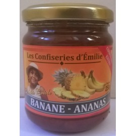 Confiture de banane ananas - bocal de 250 g