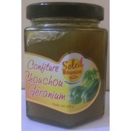 Confiture de chouchou geranium - bocal de 200 g