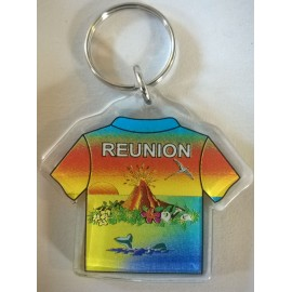 Porte clé T-shirt ile de La Réunion