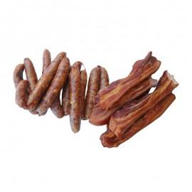 Maxi Pack Fumé 10 Kg : 5 Kg de saucisses fumées et 5 Kg de Boucané artisanal